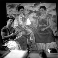 Frida Kahlo's dresses were an important part of her personna, and her art.