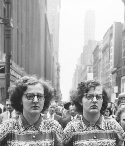 Proof that twins are creepy (my title), Copyright Louis Faurer
