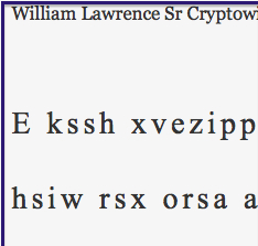 William Lawrence Sr Cryptowit