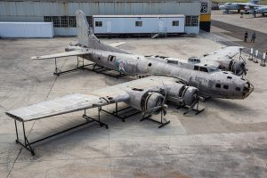 Bob Small sent a link to a fascinating article in the Huffington Post concerning The Swamp Ghost, a B-17 bomber that crash-landing in the jungles of New Guinea after being damaged in a World War II bombing raid. It has been salvaged and is now on display at the Pacific Aviation Museum in Pearl Harbor.