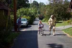 Skyler Lawrence Rides Bike