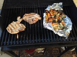 Trucker Veggies And Pork Chops