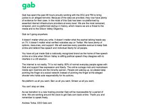GAB Back Online, Free Speech Wins
