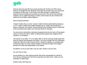 GAB Back Online, Free Speech Wins