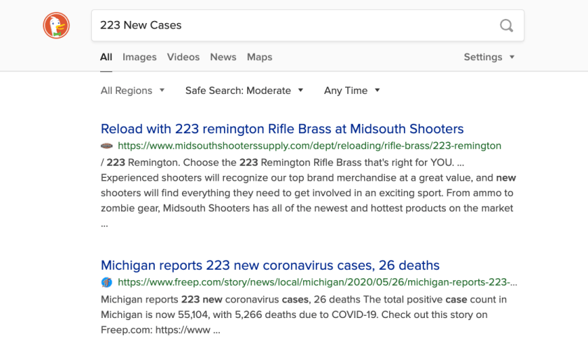 New Cases Google Search