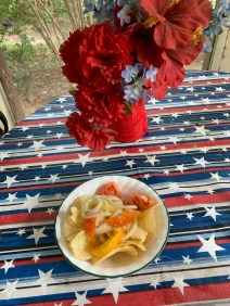 Potato Chip Tomato Dip Salad
