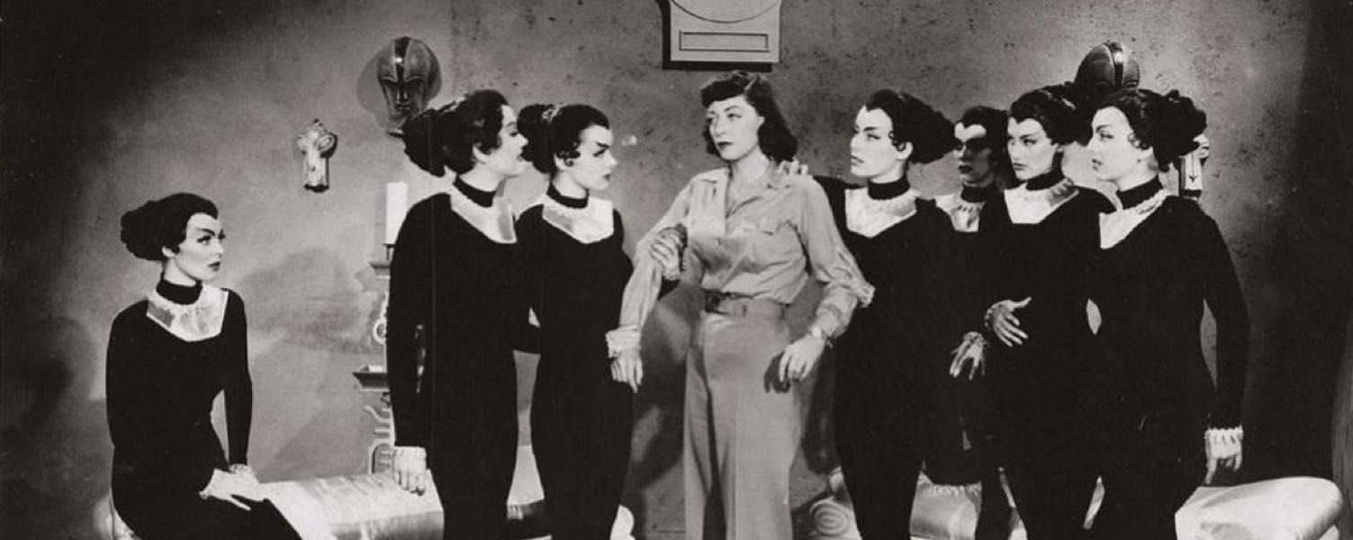 Here's a shot of the wonderful Marie Windsor, surrounded by The Cat Women of the Moon.