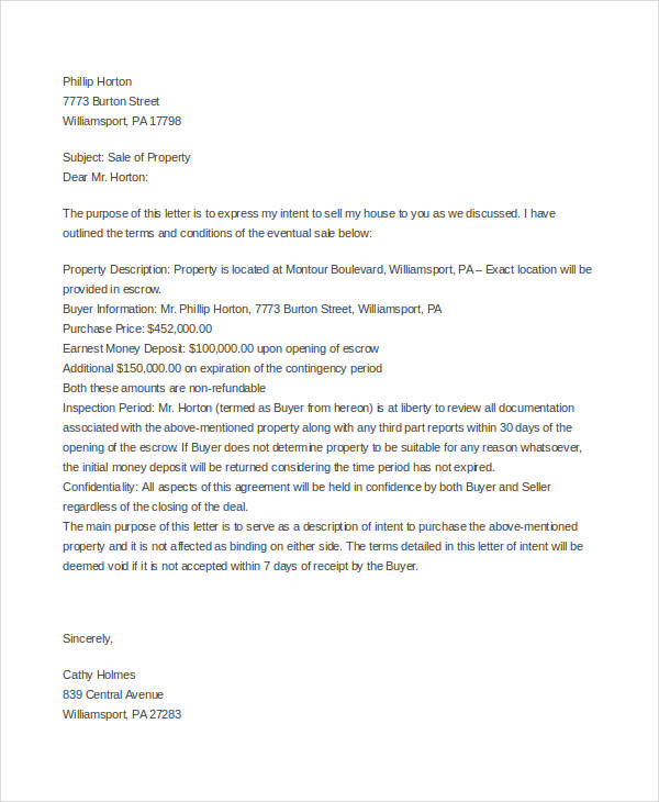 sales offer letter template