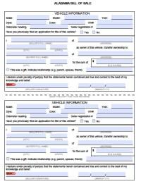 Free Alabama MVD Bill of Sale Form | PDF | Word (.doc)