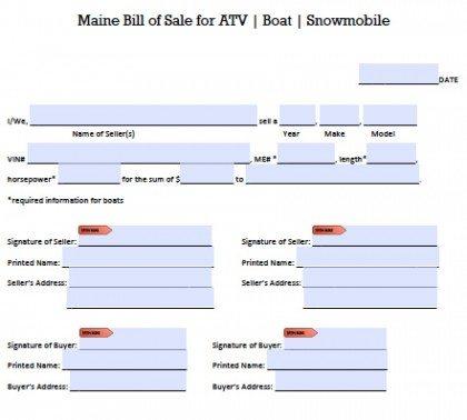 Bill Of Sale Form Snowmobile Job Application Letter Format