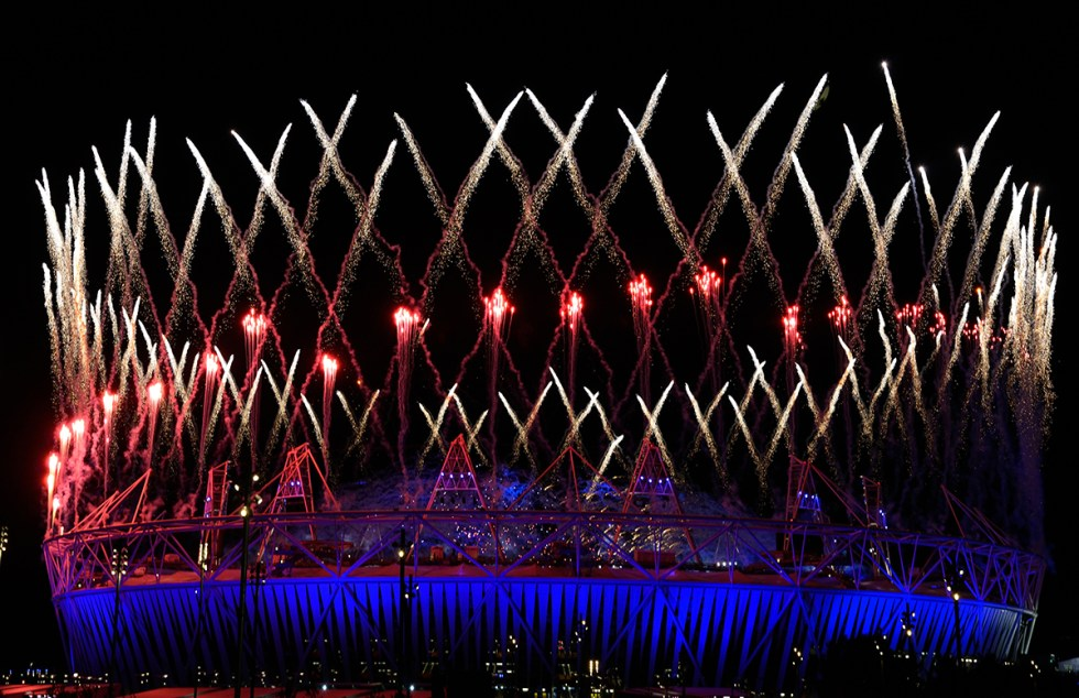 London Olympics Stadium Fireworks