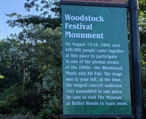 Woodstock sign