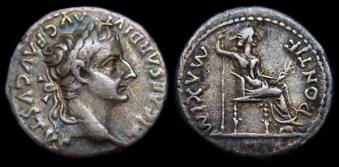 Tiberius Tribute Denarius