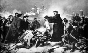 Burning of the Papal Bull