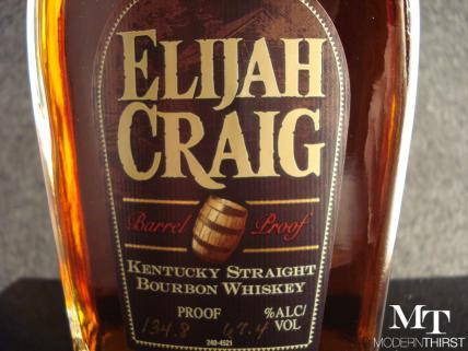Elijah Craig Barrel Proof Label Closeup