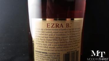 Ezra brooks single barrel 12 year