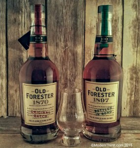 Old Forester 1870 and 1897 Whiskey Row Collection