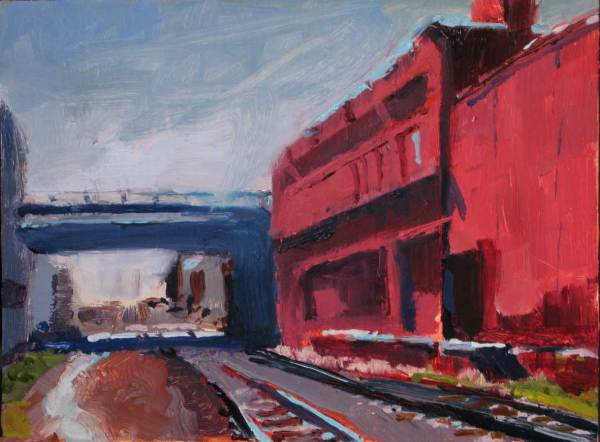 red industrial bill sharp paintings