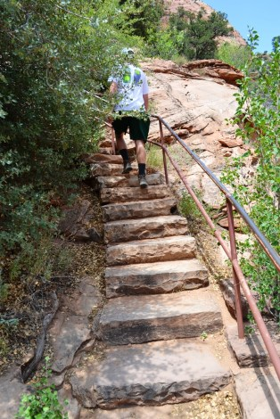 Starting up the stairs