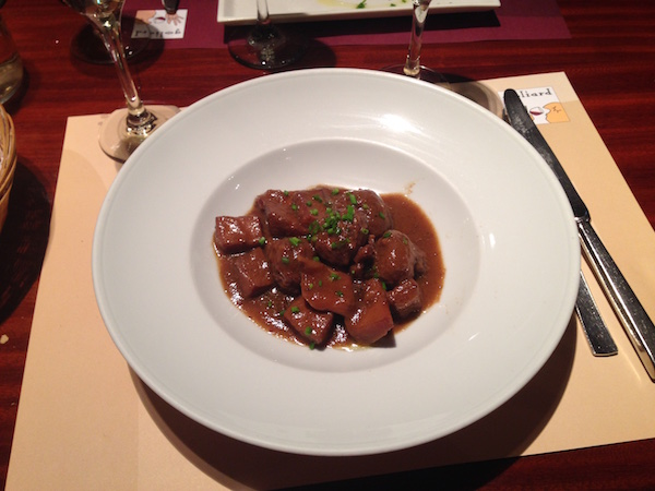 Mandonguilles amb sèpia (Meatballs with cuttlefish) as served for lunch by Goliard.