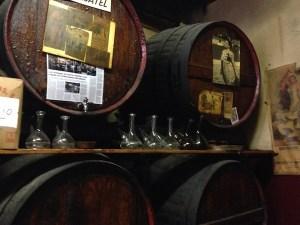 Wine barrels in Bar Bodega Montse, Barcelona