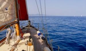 Gemini sailboat off the coast of Barcelona
