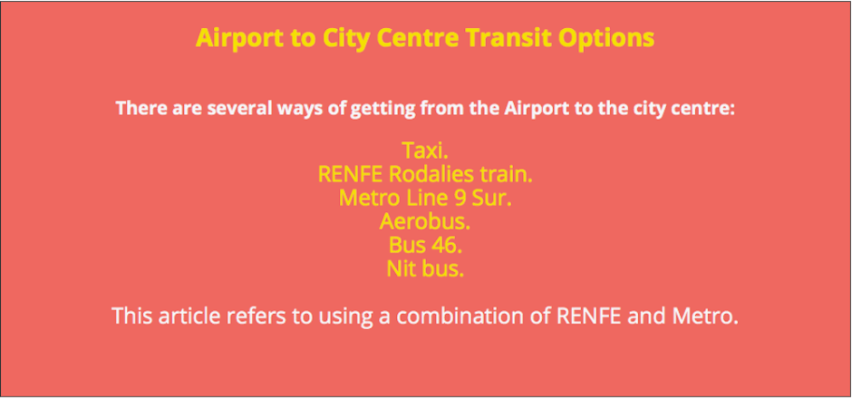 Airport Terminal 1 transit options