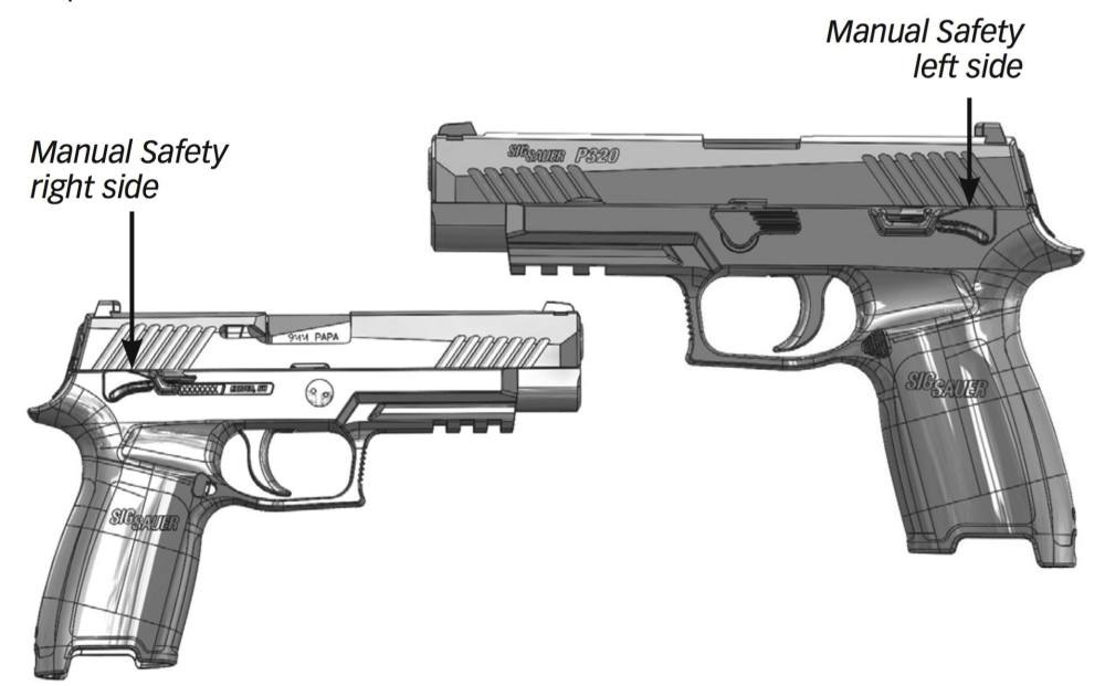 medium resolution of to engage the manual safety rotate the safety lever upward with the thumb of the firing hand the manual safety is ambidextrous