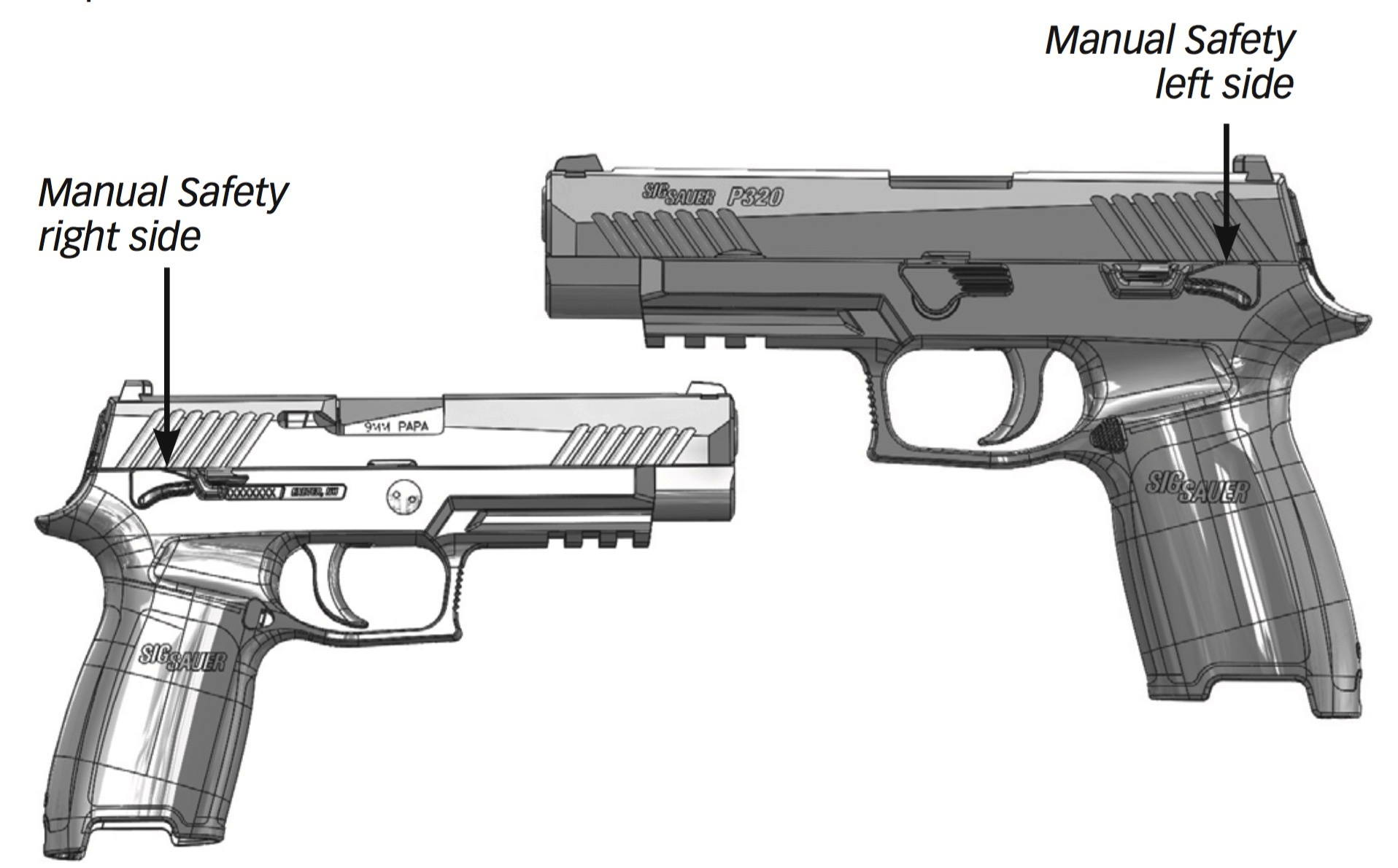 hight resolution of to engage the manual safety rotate the safety lever upward with the thumb of the firing hand the manual safety is ambidextrous