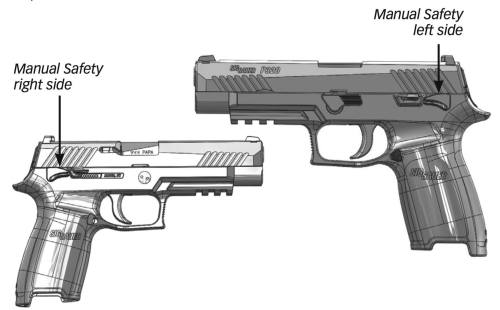 small resolution of to engage the manual safety rotate the safety lever upward with the thumb of the firing hand the manual safety is ambidextrous