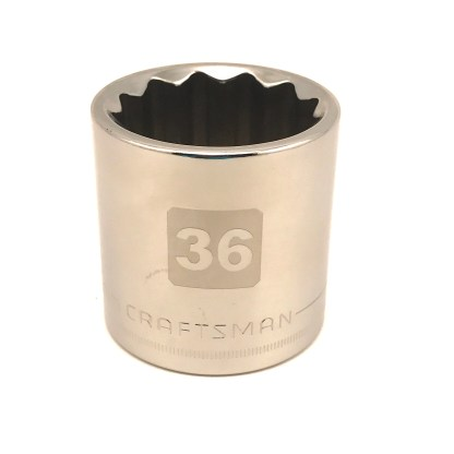 36mm Craftsman 1/2in Dr 12pt Socket easy read