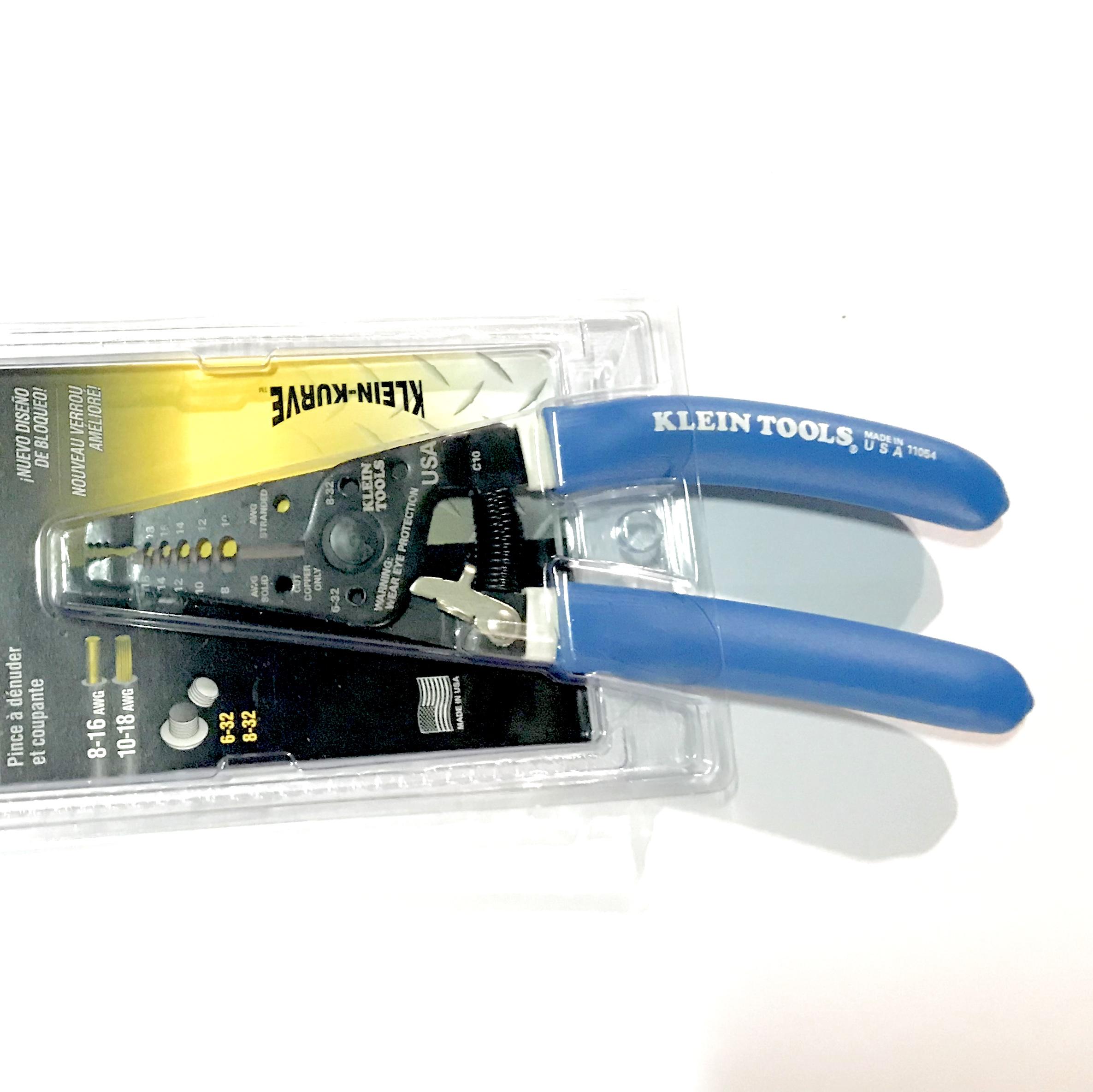 Klein Tools Wire Stripper 11054 Klein Kurve Blue/White Handles