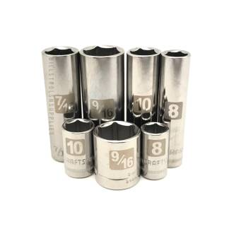 Craftsman socket 1/4 drive sockets 6 point easy read deep and standard sizes