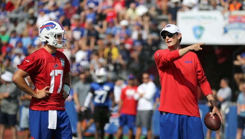 Bills QB coach Ken Dorsey in running for Lions offensive coordinator job