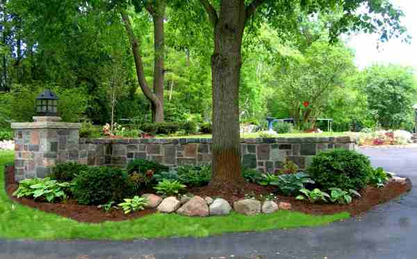 beautiful stone garden walls