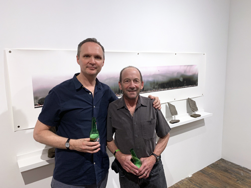 Michael Foley and BW at Exhibition Lab opening