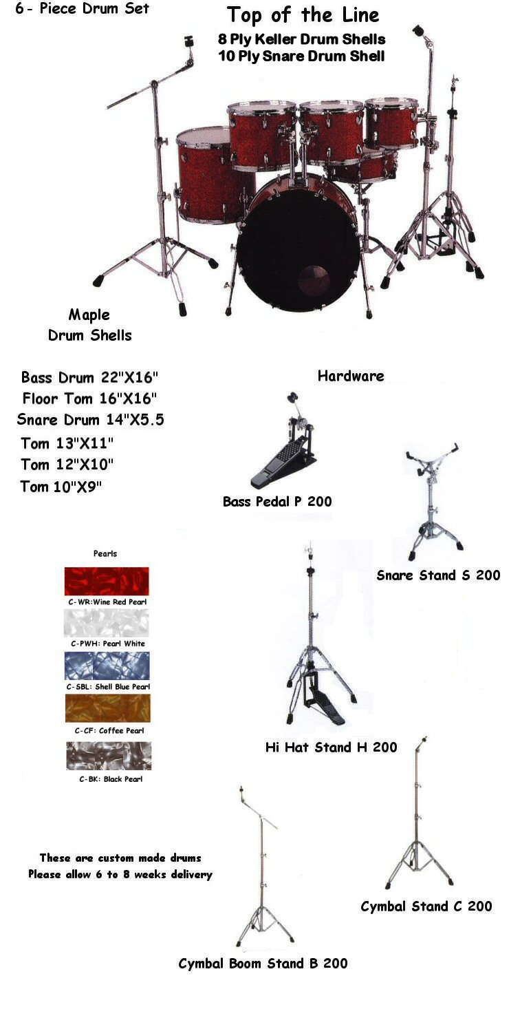 hight resolution of hd622 6 piece pearl kit done jpg