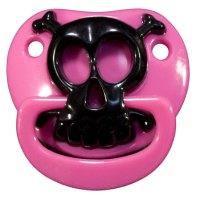 Pink Skull Baby Pacifier