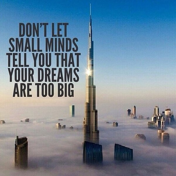 Don't let small minds...