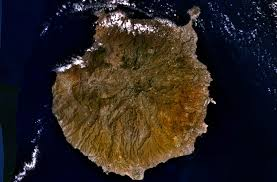 shot from space of gran canaria