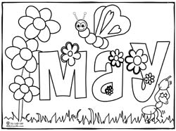 May Day Printable Coloring Pages