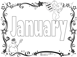 Start the New Year with a January Coloring Page & Song
