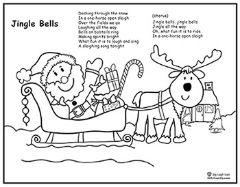 One Horse Open Sleigh Coloring Sheet Preschool Coloring Pages