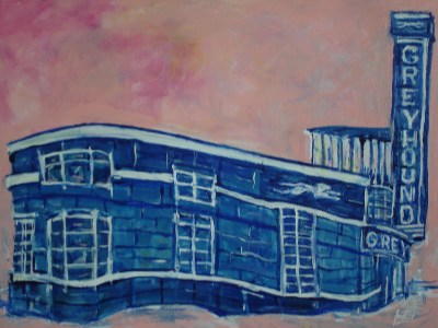 In the Pink - The Restored Greyhound Station by Billy Hedel 2016