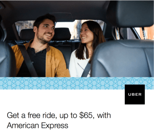 UBER AmEx Free Airport Rides