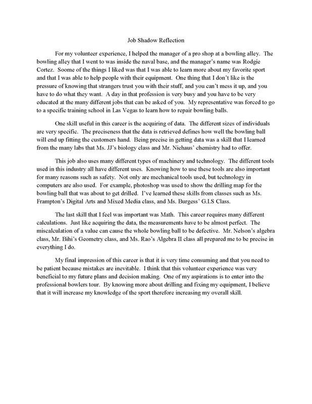 Job Shadowing Essay Job Shadowing By Malcolm Sutton Ca Job Shadowing