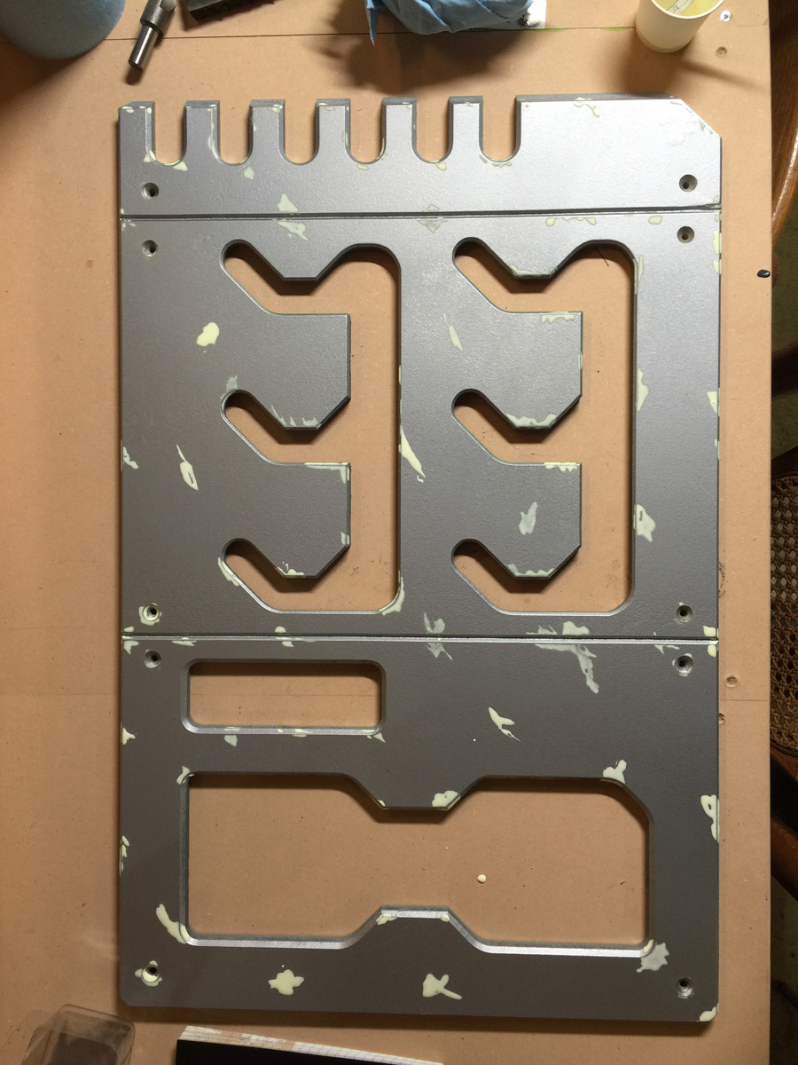 hight resolution of when i arrived i was handed this cnc cut box with all of these cutouts it was meant to be a fusebox inside a beat up spaceship i started out by spraying