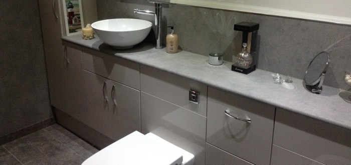 image for Bathroom Design, Supply And Installation Of The Eco Gloss White  range. By Billy Walker Joinery Services Ltd, Fraserburgh, Aberdeenshire.