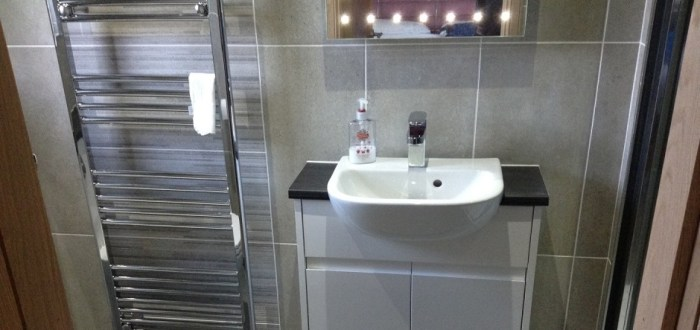 image for Bathroom Design, Supply And Installation Of The Eco Integral Gloss White  range. By Billy Walker Joinery Services Ltd, Fraserburgh, Aberdeenshire.