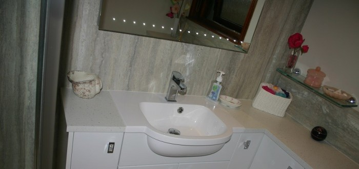 image for Bathroom Design, Supply And Installation Of The Eco Gloss Wave  range. By Billy Walker Joinery Services Ltd, Fraserburgh, Aberdeenshire.